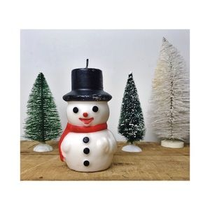 Vintage Frosty the Snowman candle holiday Xmas